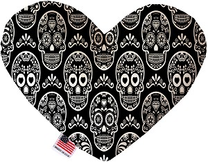 Classic Sugar Skulls 6 Inch Heart Dog Toy