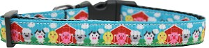 Barnyard Buddies Nylon Ribbon Dog Collar Medium Narrow