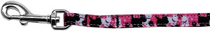 Plaid Pups Nylon Ribbon Pet Leash 3/8 inch wide 4Ft Lsh