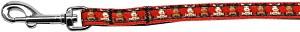 Reindeer Nylon Ribbon Pet Leash 3/8 inch wide 4Ft Lsh