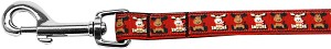 Reindeer Nylon Ribbon Pet Leash 5/8 inch wide 6Ft Lsh