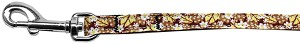 Autumn Leaves Nylon Ribbon Pet Leash 3/8 inch wide 4Ft Lsh