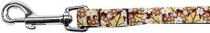 Autumn Leaves Nylon Ribbon Pet Leash 5/8 inch wide 4Ft Lsh