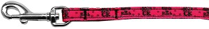 Girls Rock Nylon Ribbon Pet Leash 3/8 inch wide 6Ft Lsh
