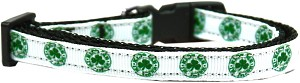 Kiss Me - I'm Irish Nylon Ribbon Dog Collar XS