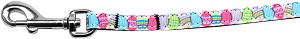 Easter Egg Nylon Ribbon Pet Leash 3/8 inch wide 4Ft Lsh
