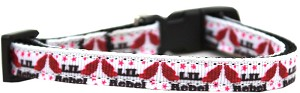 Lil' Rebel Nylon Ribbon Dog Collar Sm