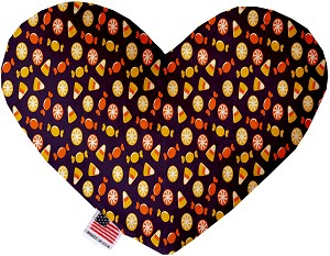 Halloween Candy Confetti 6 Inch Heart Dog Toy