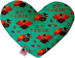 Happy Thanksgiving 8 Inch Heart Dog Toy