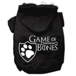 Game of Bones Screenprint Dog Hoodie Black S (10)