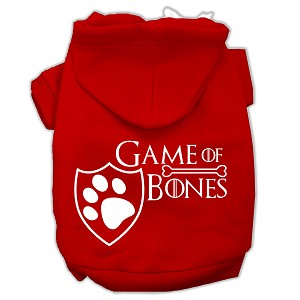 Game of Bones Screenprint Dog Hoodie Red XXXL(20)