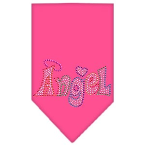 Technicolor Angel Rhinestone Pet Bandana Bright Pink Size Large