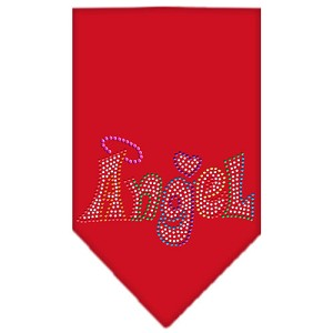Technicolor Angel Rhinestone Pet Bandana Red Size Large