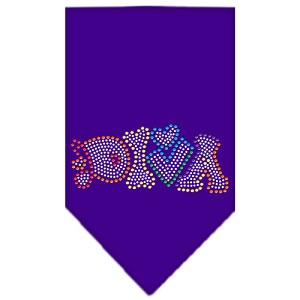 Technicolor Diva Rhinestone Pet Bandana Purple Size Large