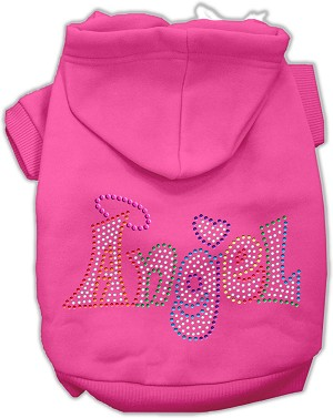 Technicolor Angel Rhinestone Pet Hoodie Bright Pink Med (12)