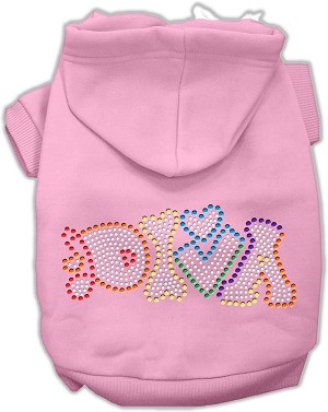 Technicolor Diva Rhinestone Pet Hoodie Light Pink XS