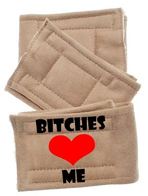Peter Pads Tan Size LG Bitches Love Me 3 Pack