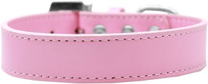Lincoln Plain Dog Collar Light Pink Size 16
