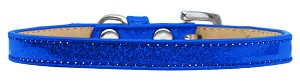 Wichita Plain Ice Cream Dog Collar Blue Size 16