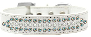 Ritz Pearl and AB Crystal Dog Collar White Size 16