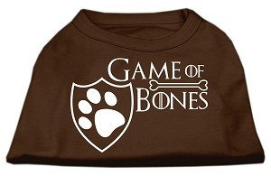 Game of Bones Screen Print Dog Shirt Brown Sm (10)