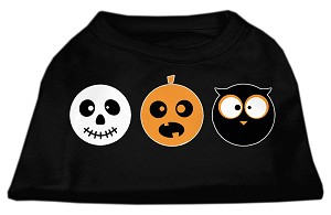 The Spook Trio Screen Print Dog Shirt Black Lg (14)