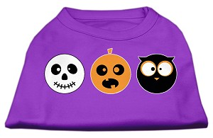 The Spook Trio Screen Print Dog Shirt Purple XS (8)