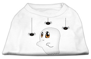 Sammy the Ghost Screen Print Dog Shirt White XL (16)
