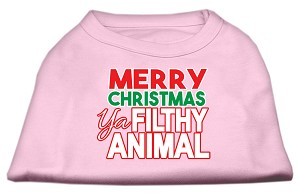 Ya Filthy Animal Screen Print Pet Shirt Light Pink XL (16)