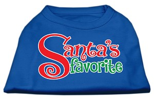 Santas Favorite Screen Print Pet Shirt Blue XXL (18)