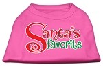 Santas Favorite Screen Print Pet Shirt Bright Pink Lg (14)