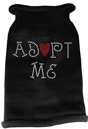 Adopt Me Rhinestone Knit Pet Sweater MD Black