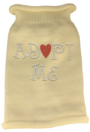 Adopt Me Rhinestone Knit Pet Sweater LG Cream