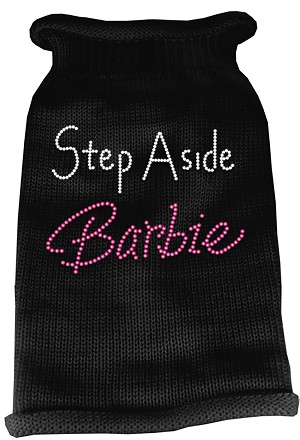 Step Aside Barbie Rhinestone Knit Pet Sweater XL Black