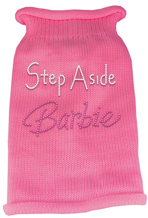 Step Aside Barbie Rhinestone Knit Pet Sweater XS Pink