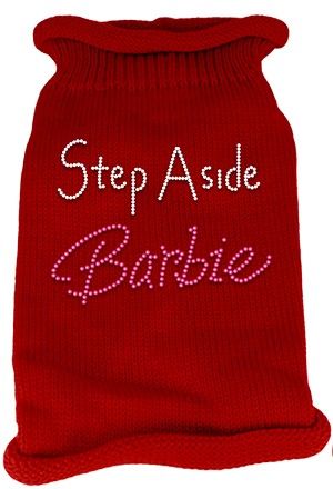 Step Aside Barbie Rhinestone Knit Pet Sweater SM Red