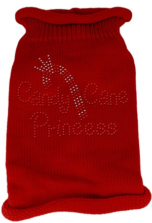 Candy Cane Princess Knit Pet Sweater MD Red