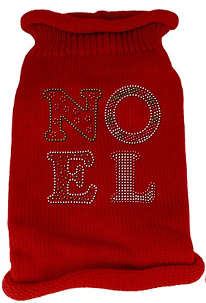 Noel Rhinestone Knit Pet Sweater MD Red