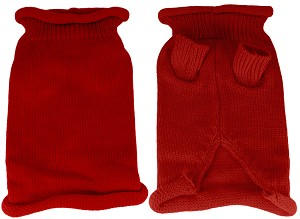 Plain Knit Pet Sweater XL Red