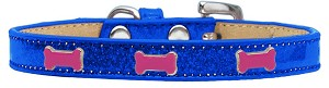 Pink Bone Widget Dog Collar Blue Ice Cream Size 20