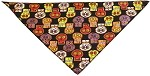 Crazy Skulls Tie-On Pet Bandana Size Small