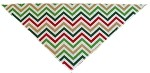 Christmas Chevron Tie-On Pet Bandana Size Large