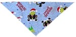 Hoppy Christmas Tie-On Pet Bandana Size Large