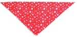 Red Snowflake Tie-On Pet Bandana Size Large