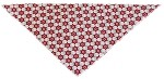 Vintage Snowflake Tie-On Pet Bandana Size Large