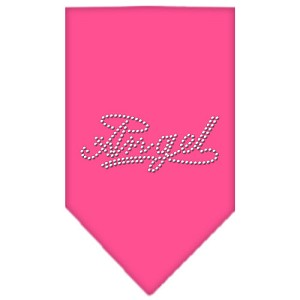 Angel Rhinestone Bandana Bright Pink Small
