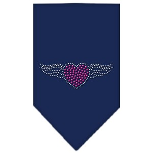 Aviator Rhinestone Bandana Navy Blue Small