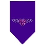Aviator Rhinestone Bandana Purple Small