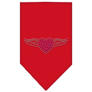 Aviator Rhinestone Bandana Red Small