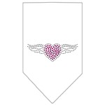 Aviator Rhinestone Bandana White Small